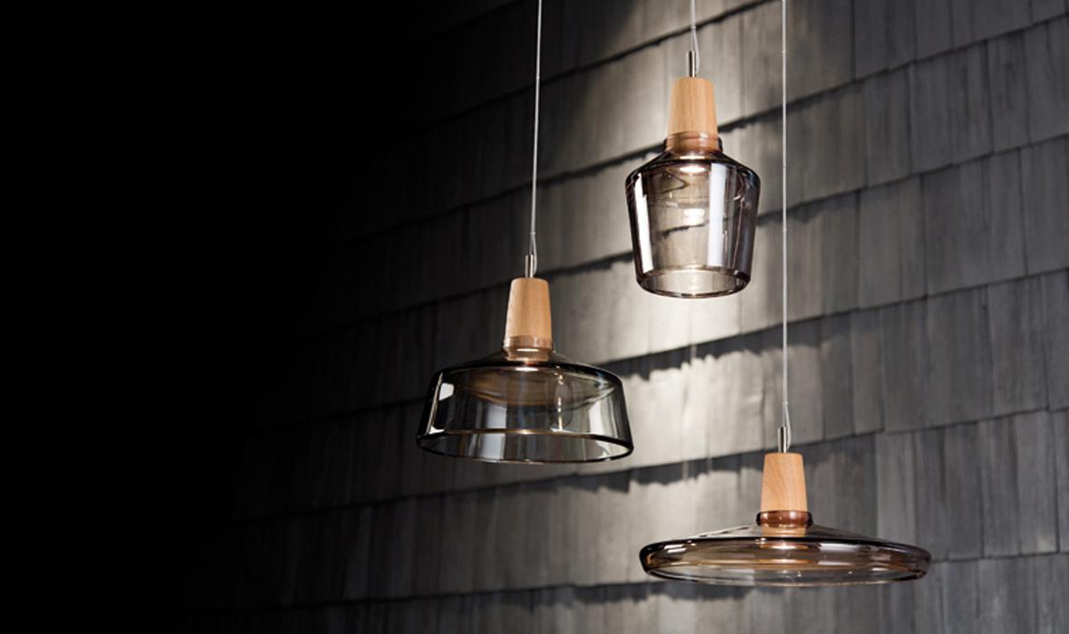 dreizehngrad Pendelleuchte Modell Industrial Glasleuchte Designleuchte