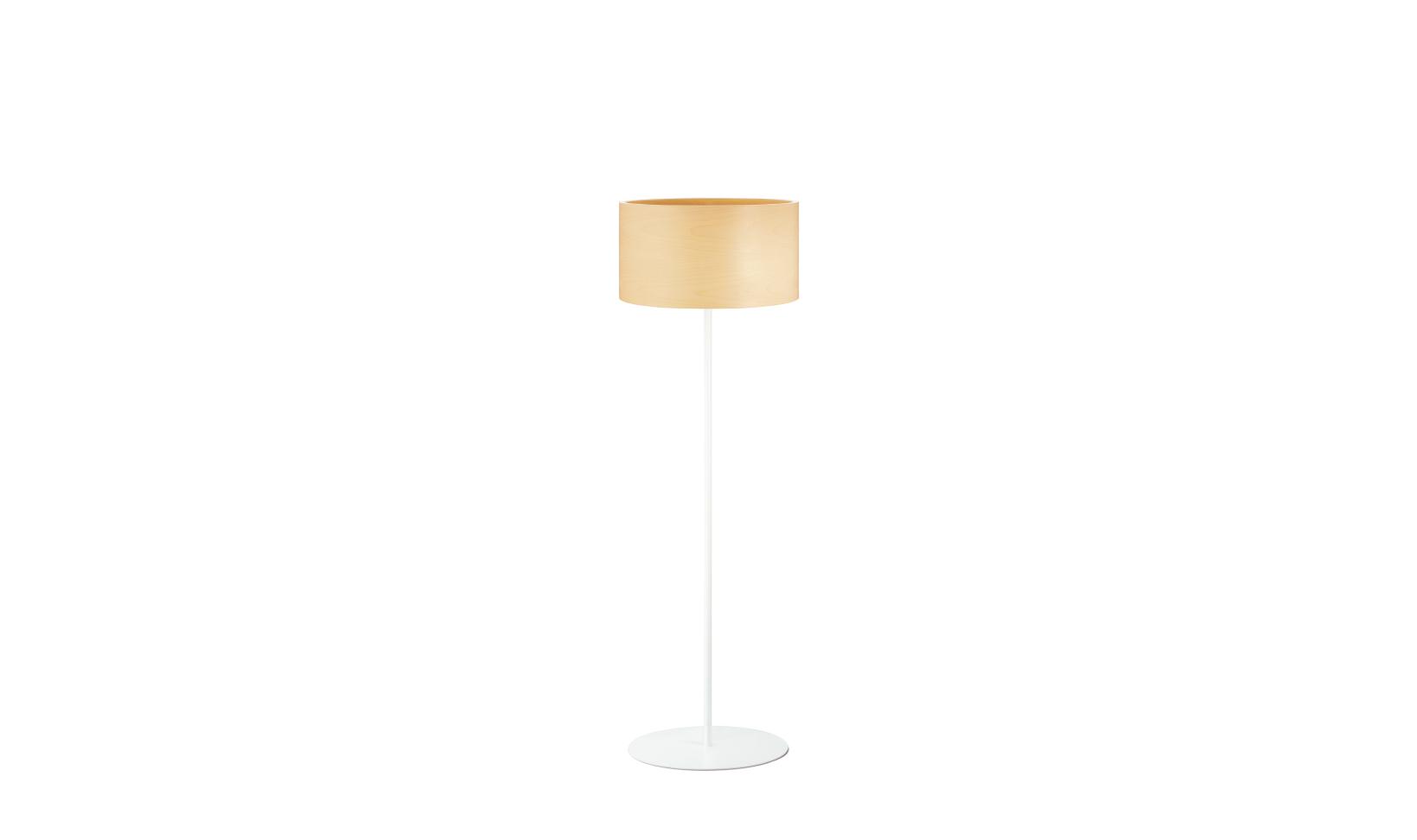 dreizehngrad floor lamp model Funk 40/22S maple veneer lamp design lamp
